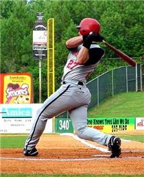 This photo of Jackson Melian was taken last summer in a game played against the Birmingham Barons at Hoover Stadium.