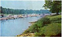 Chickamauga Lake's yacht harbor provides storage for pleasure boats.  Click to enlarge.
