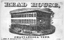 Early advertisement for the Read House.  Click to enlarge.