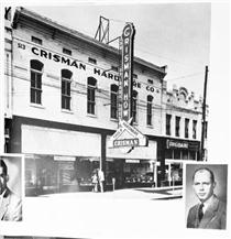 """Look for the Big Knife"" was the slogan of Crisman Hardware.  Click to enlarge."