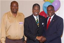 From left, George Grandy, Jr. Census Regional Director, Atlanta; Rev. Bernie Miller, and former Mayor Johnny Ford, Tuskegee Al. Click to enlarge.