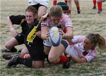 Candace scoring a try at a recent match in Nashville.