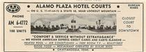 "Advertisement for the Alamo Plaza from a ""This Week in Chattanooga"" tourist pamphlet.  Click to enlarge."