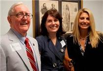 """Shown, from left to right, are Charles """"Buz"""" Dooley, of counsel with Leitner, Williams, Dooley & Napolitan, Chattanooga; Rachel Fisher, Scenic City Legal Group, Chattanooga; and Cynthia Wyrick, member of Ogle, Glass & Richardson in Sevierville, and president of the Tennessee Justice Center Board of Directors, were among the attorneys who attended the reception honoring attorneys and law firms for their pro bono service."""