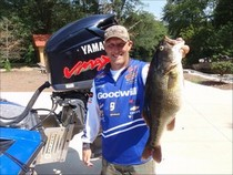 <i>Wesley Strader holds the current state record for spotted bass with this 6 lb. 7 oz. fish taken from the Ocoee River.</i>