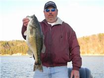 "<i>Chris Coleman caught this ""record"" spotted bass on Chickamauga Lake in February.</i>"