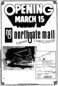 Grand opening advertisement for Northgate