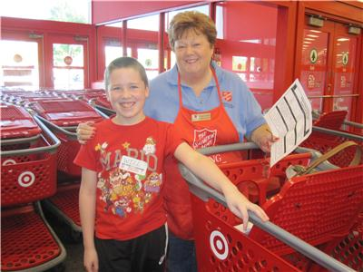 Target and The Salvation Army provided 23 local students with a Back-to-School shopping spree.
