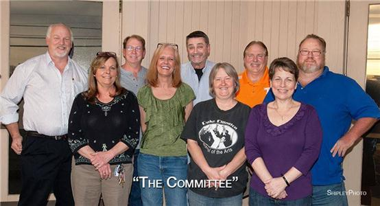 The reunion committee includes, front row, left to right, Lindy Lou Partlow Stolpmann, Regina Beadle Davis, Phyllis Bowles Payne, and Edna Cerasi Cooze. Back row, left to right, Gary Nation, William (Billy) Watts, Jeff Pearce, Jess Knobles and Gregg Shipley.