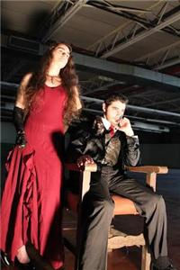 Macbeth (Micheal Lynn) and Lady Macbeth (Gwynne Jones) on the throne