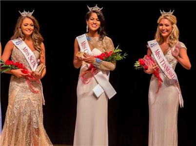 Miss Scenic City 2015 Hannah Robison, Miss Chattanooga 2015 Stephanie McKain and Miss Tennessee Valley 2015 Sydney Shadrix wave to the audience at the Chattanooga State Humanities Theatre moments after winning the Scenic City Pageant titles on Saturday.  The three will represent the Chattanooga area at next June's Miss Tennessee Pageant.  Eighteen women competed in the local preliminary that is one of the most successful in the country having produced five Miss Tennessee winners.
