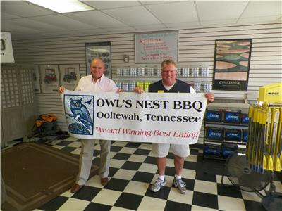 Dan Griess and Steve Ray of Owls Nest BBQ look forward to the Friends of Gordon-Lee Mansion BBQ contest on Sept. 20 to be held at The Mansion