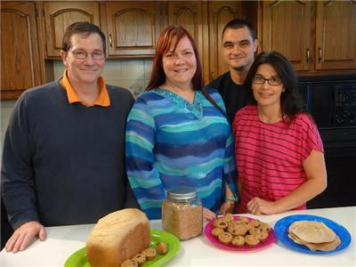 Learn to make bread at two UT Extension classes. Instructors from left are Tom Riley, Kelle Riley, David Allen and Kristie Allen.