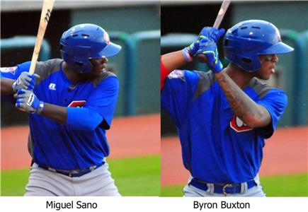 Third baseman Miguel Sano and center fielder Byron Buxton are the highest rated prospects on the Lookouts' team.