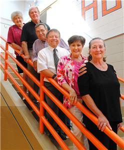 East Ridge Hall of Famers: East Ridge hall of fame committee chair Catherine Neely (top) joins five members of the class of 2015 hall of fame. (top to bottom) Ed Foster, Jimmy Starling, Lynn Goss, Leslie Williamson, Cheryl Gannon. The induction ceremony will be Sept. 25.