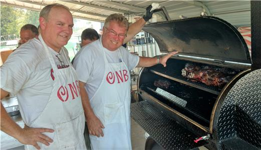 Dan Griess, left, and Steve Ray, who make up the Owls Nest BBQ team, will host the Lamar Johnson Classic on Oct. 22 at Cambridge Square in Ooltewah. The ONB guys are one of 12 teams that will compete for top honors in the barbeque event.