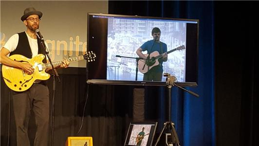 Chattanooga's Nick Lutsko, who won the annual Road To Nightfall competition, performed live over Internet2 with Austin recording artist Jason Molin to an audience of technologists, policy makers, and municipal stakeholders.