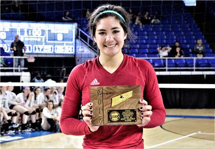 Baylor's Sarah Sumida was named Most Valuable Player of the DII-AA championship match as she led the Lady Red Raiders to a 3-1 win over defending champ Briarcrest Thursday afternoon at MTSU's Murphy Center in Murfreesboro. The senior setter finished the match with 7 kills, 1 ace, 39 assists and 17 digs.