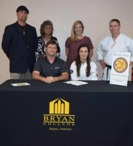 Martial Artist Kila Owens signs with Bryan College