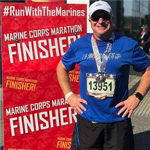Dr. William Lamb ran the Marine Corps Marathon Sunday