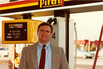 Jimmy Haslam when he joined the family firm in 1976