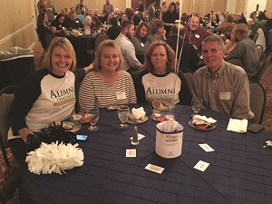 Pictured from left to right: CSCC Alumni Melissa Woody, Donna Simpson, Sherry Crye and Charlie Cogdill at the Alumni and Friends Celebration