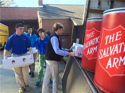 McCallie students provided a complete Thanksgiving meal for 75 needy families
