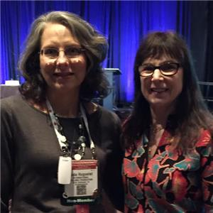 Linda Huguelet, co-leader of Chattanooga Multiple Myeloma Networking Group, and Susie Novis Durie, president and co-founder of the International Myeloma Foundation