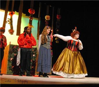 From left are Wesly Austin, Lyndsay Mackay and Madison Smith in a scene from last year's Alice in Wonderland