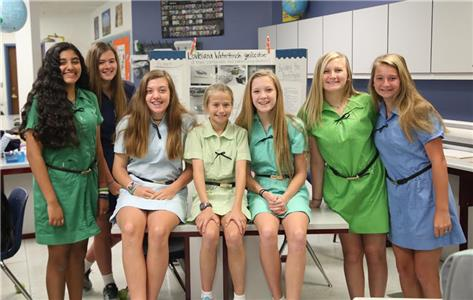 GPS seventh graders celebrated a first-place win and Honorable Mention at the state level