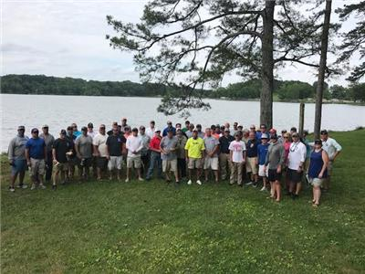 Anglers who took part in the Annual EMS Bass Tournament