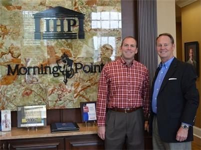 Pictured, (left to right): Franklin Farrow, chief operating officer of Morning Pointe Senior Living and Mathew Miller, executive director of the East Tennessee Symphony Orchestra