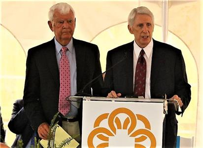 Tom Edd Wilson, right, is shown with Grady Williams at Children's Hospital groundbreaking on Tuesday