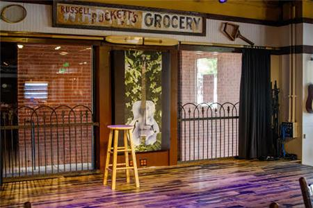 The Puckett's stage