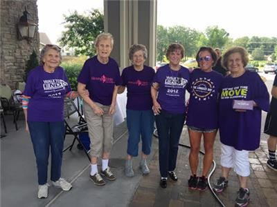 Morning Pointe of Chattanooga at Shallowford residents Martha Dietz, Louise Gork, Betty Fowler, Maxine Spector, Holly Holcomb, life enrichment director at Morning Pointe, and Ruth Lowery, Morning Pointe resident, put in a day of hard work, washing cars while raising money for the Alzheimer's Association during the Longest Day fundraiser