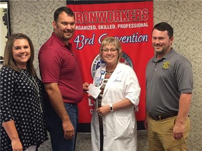 Iron Workers Local Union 704 Donates Money For ER Cell Phone