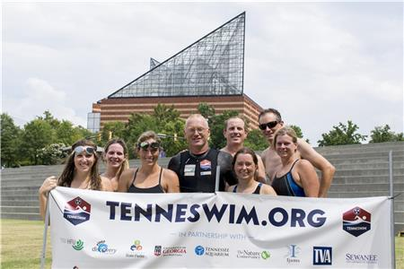 Dr. Andreas Fath with Chattanooga Open Water Swimmers