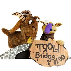 The Shaking Ray Levi Society will present Billy Goats Gruff and Other Stuff, a puppet show, on Sunday, Sept. 17