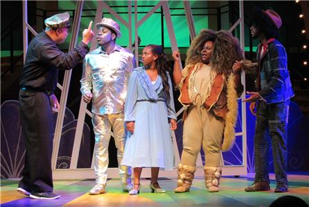 Elliott Coleman (Gatekeeper), Donel Solomon (Tin Man), Maya Jaffar (Dorothy), Tiffany Williams (Lion), and Darryl Wheeler (Scarecrow)