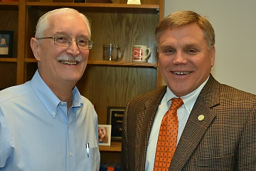 Pictured, L-R, are Mr. Corder and Assessor Marty Haynes