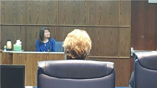 Tina Close testifying at the trial