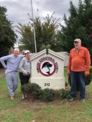 Pictured, from left to right: Robyn Boyer, Linda Lee, and Joe Williams - all Hamilton Place Rotary Club members volunteering at HES