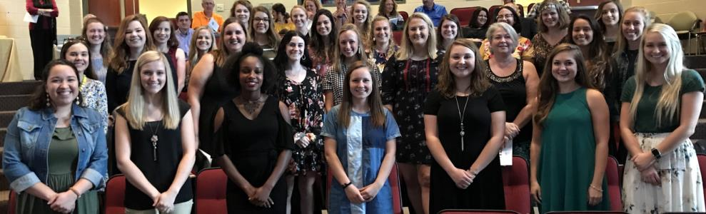 The Lee University chapter of Kappa Delta Pi  inductees