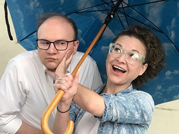 Actors Jacob Moore and Courtenay Gillean Cholovich appear in the Halloween Horrors of the Nightmare 'Noog radio play on Oct. 27