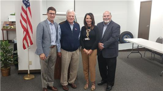 Marshall Brock with Trustee Bill Hullander, County Commission Chairman Sabrena Smedley and Juvenile Court Clerk Gary Behler