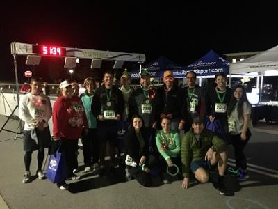 The members of Team Morning Pointe show their holiday spirit at the Christmas on Cambridge Square 5K Glow Run to benefit the District 9 Ooltewah Harrison Education Fund