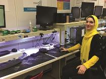 Nilou Hozouri gains experience for her future career in I.T. by working in the CSCC CougarTech Repair Center on campus, a support center that offers free computer support to the local community