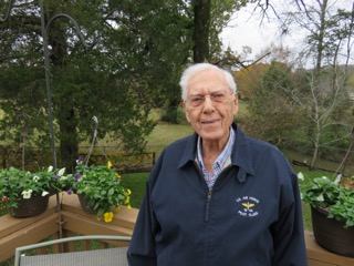 Dr. Wayne Shearer on the deck of his Hixson home