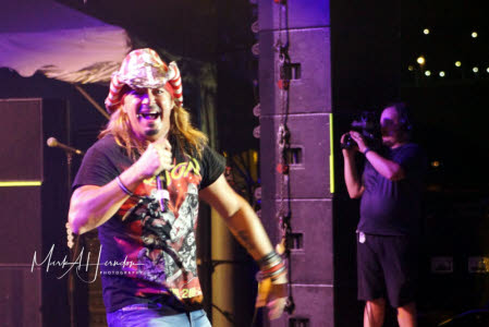 Bret Michaels at this year's Riverbend Festival