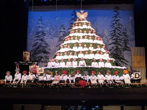 Singing Christmas Tree.56th Annual Chattanooga Boys Choir Singing Christmas Tree